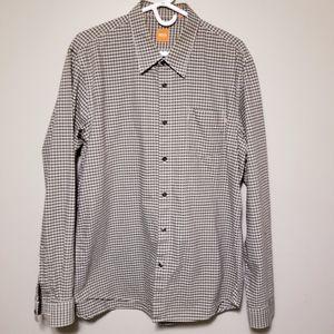 HUGO BOSS Men's Micro Plaid  Shirt